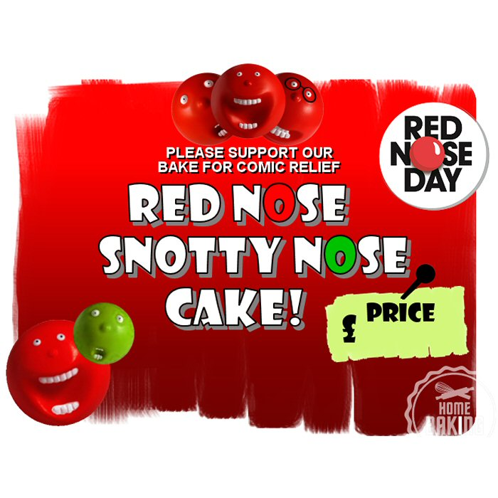 Red Nose and Snotty Nose Cake